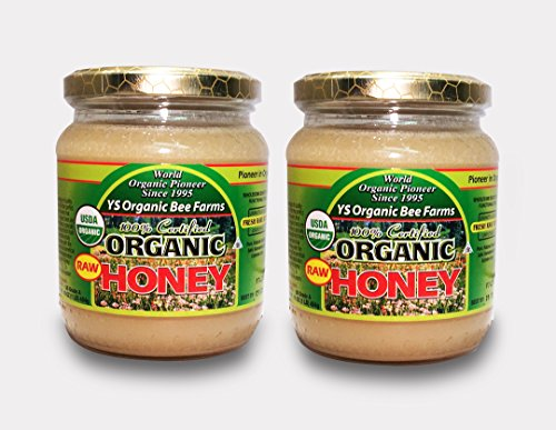 YS Organic Bee Farms 100% Certified Organic Raw Honey 1 lb (454g)! Unpasteurized, Unfiltered, and in its Fresh Raw State! - States Ys