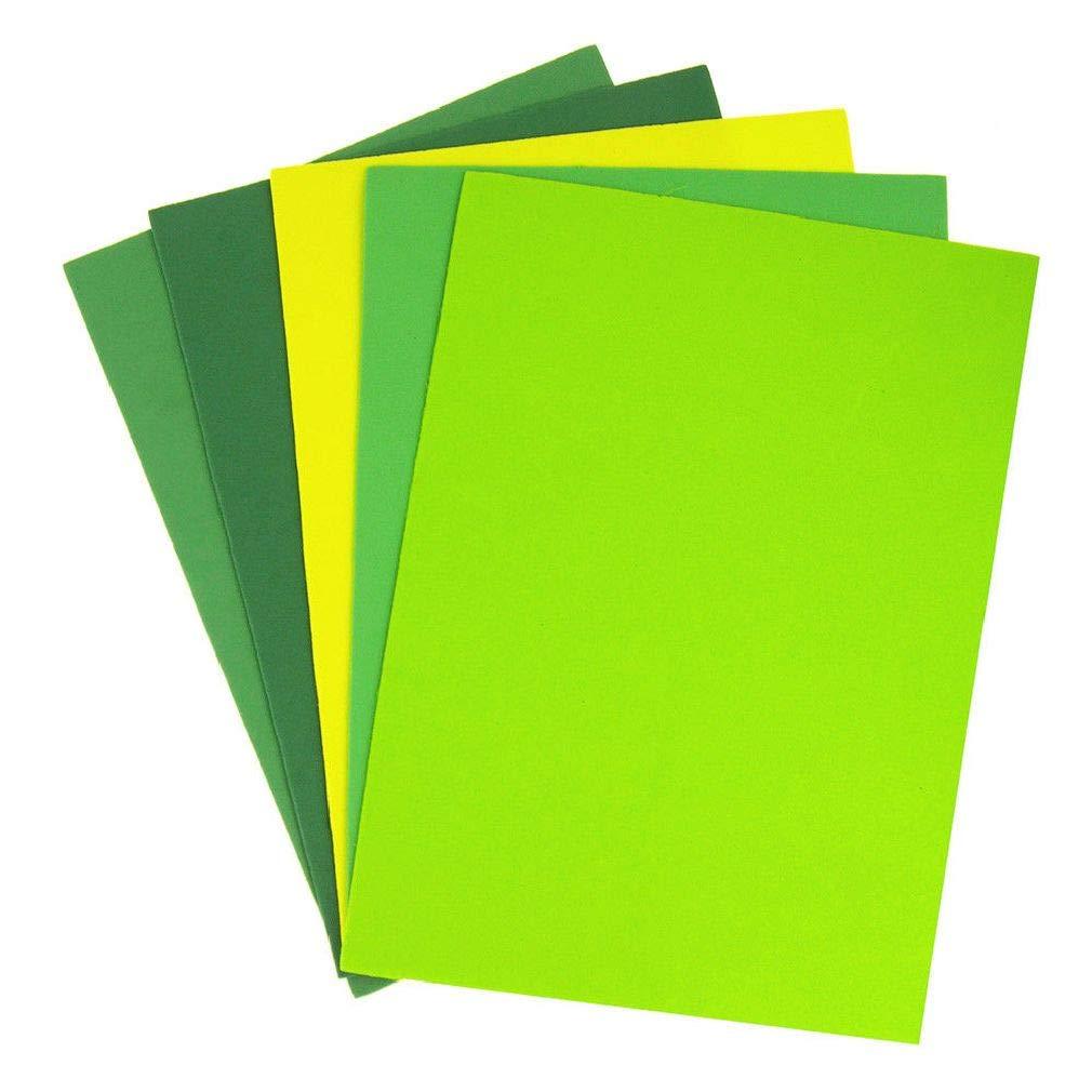 Weichan Decor Assorted Plain EVA Foam Sheet 11-1/2-Inch x 8-1/2-Inch 5-Piece by Weichan Decor (Image #1)