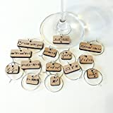 Wine Glass Charms - Math Equations