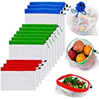 Reusable Mesh Produce Bags Premium Washable Eco Friendly Bags with Tare Weight on Tags for Grocery Shopping Storage…