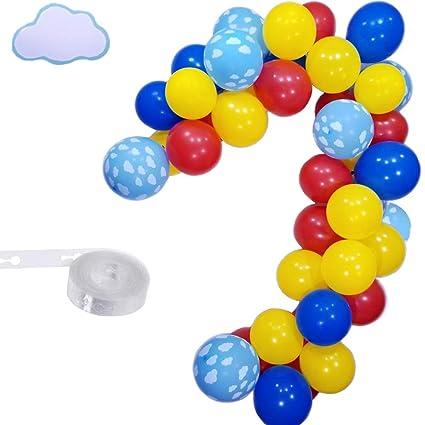 Amazon.com: Juego de guirnalda de globos nubes, globo de ...