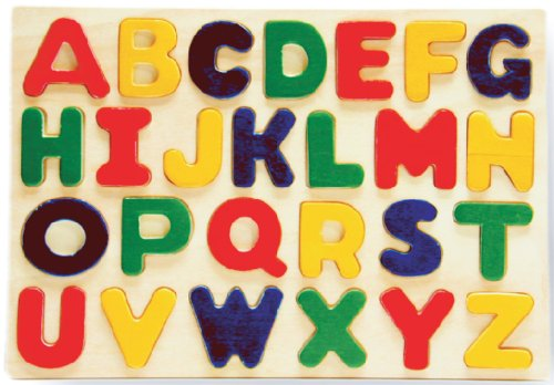 Puzzled Alphabet Raised Wooden Children product image