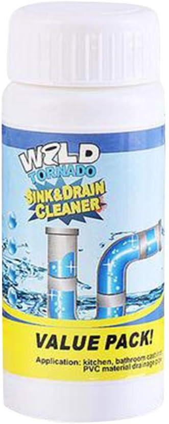 guowei0074 Leistungsstarke Sp/üle Abflussreiniger f/ür Kanalisation Toilette K/üche WC Rohr Baggen Baggerpulver Reiniger fine
