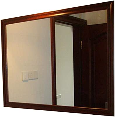 Bathroom mirror Mirror, American Solid Wood Waterproof Wall Mirror Porch Wall Mirror Bathroom Toilet Table Mirror (Color : B, Size : 6080cm)