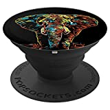 Artistic Elephant Wild African Animal Safari Jungle King PopSockets Grip and Stand for Phones and Tablets