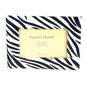 1 X Zebra Picture Frame Black and White Felt Photo Frame