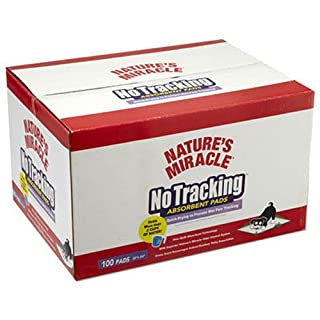 Nature's Miracle No Tracking Absorbent Pads, 100-Count Box
