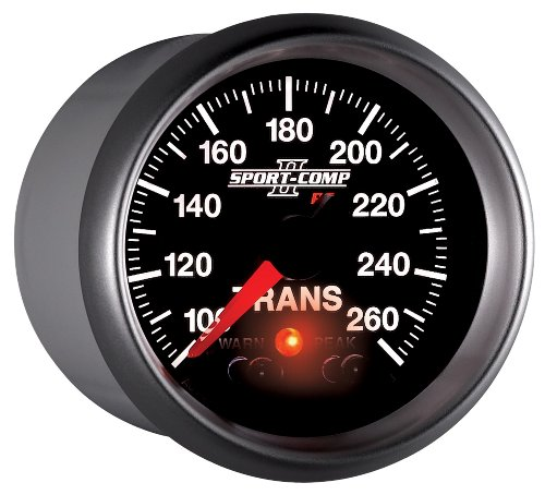 "UPC 046074036583, Auto Meter 3658 2-1/16"" 100- 260 F Full Sweep Electric Transmission Temperature Gauge"