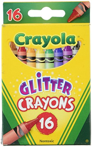 Crayola 16ct Multi-Colored Glitter Crayons -