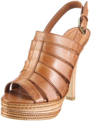 Via Uno Leather-Atanado 21071601 Damen Sandalen/Fashion-Sandalen Braun/Camel