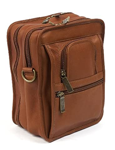 Claire Chase Ultimate Man Bag, Saddle, One Size - Claire Chase Leather Messenger