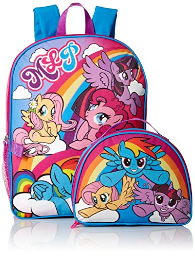 My Little Pony Girls' Backpack with Lunch Kit, Pink