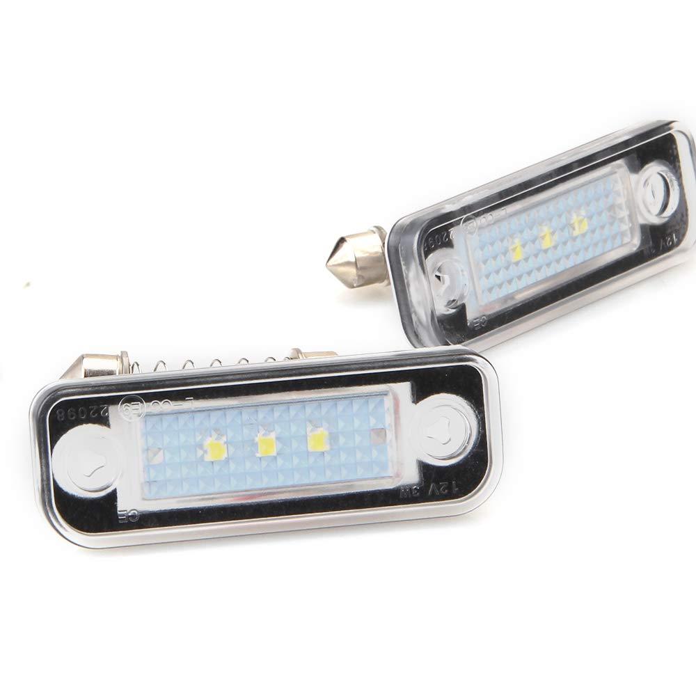 Blanc 6000K /Éclairage pour Plaque dimmatriculation LED lampe de plaque dimmatriculation pour MB W203 E-CLASS W211 4D 2003-2009 2 pi/èces