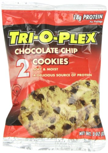 Tri-O-Plex Cookies, Chocolate Chip, 3-Ounce Packages (Pack of 12)