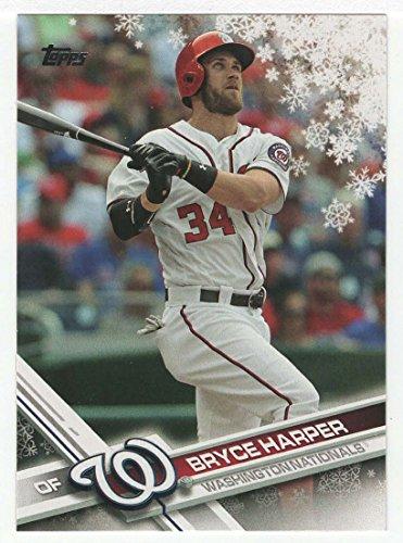 (Bryce Harper (Baseball Card) 2017 Topps Walmart Holiday Snowflake # HMW 200 MT)