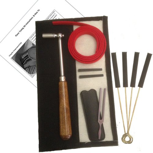High Quality - Upgraded Piano Tuning Kit with Mutes, Tuning Fork, and Instructions