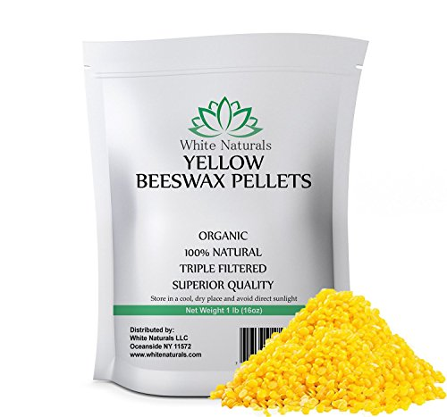 100  Organic Beeswax Pellets  Superior Quality  Cosmetic Grade  Triple Filtered Pure Bees Wax Pastilles  Yellow  Excellent For Diy Skin Care  Lip Balm  Candles And More   1Ib  16Oz  By White Naturals