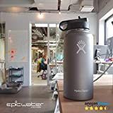 THE ANSWER | Hydro Flask Compatible Water Bottle Filter System | Filter Straw Lid Combo Fits HF 32 oz Wide Mouth Bottles | American Made 5 Stage 2 Micron Filter Removes 99.9% of Tap Water Contaminants