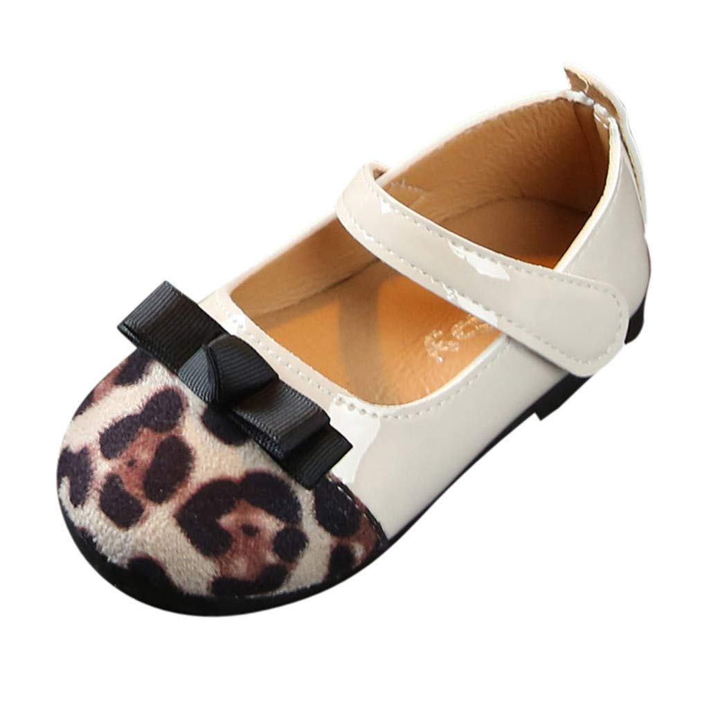 Moonuy Toddler Bébé Filles Chaussures, Nouveau-nés Enfants Filles De Mode Léopard Patchwork Appartements Infant Bowknot Princesse Unique Chaussures Sandales