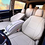 Kust zd31921w Beige Car seat Covers,Custom Fit Seat Covers Fit for Toyota Highlander 2017 2018,Pack of Auto Seat Covers 4pcs Saddle Cover,4pcs Back Cover,7pcs Headrest,Only fit for LE,LE,Plus,XLE