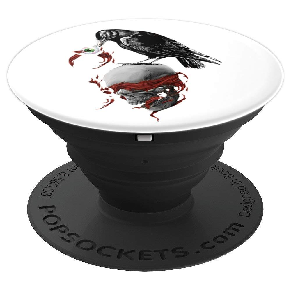 Raven Skull Vintage hand Mount Smartphones cell phone grip - PopSockets Grip and Stand for Phones and Tablets