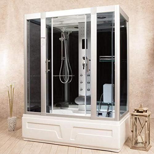 Cabina de hidromasaje 160 x 85 cm cromoterapia radio cabina ducha ...