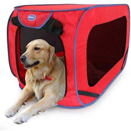 SportPet Pop-Open Kennel /Brand: SportPet Designs / Size: Large (12″H x 2″L x 12″W)/Color: Red