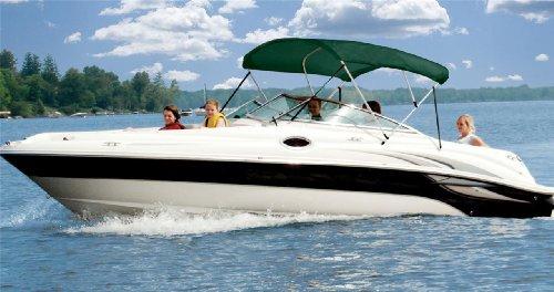 6.25oz Complete Full Boat Bimini TOP Sunshade TOP Set for Chris Craft Concept 21 Cuddy Cabin I/O ()