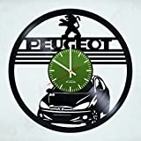 French Car Design Vinyl Record Wall Clock - Gift Idea for boys and men - Contemporary home room wall art decoration