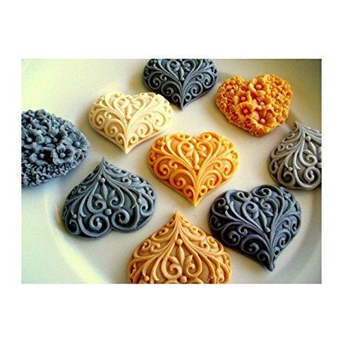heart mold 23-66788, Sugarcraft Moulds Polymer Clay Cake Border Mould Soap Molds Resin Candy Chocolate Cake Decorating Tools