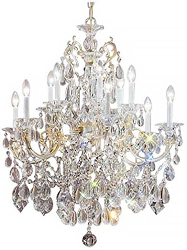 Classic Lighting 57013 CHP C Via Venteo, Crystal, Chandelier, Champagne - Pearl Champagne Via Venteo