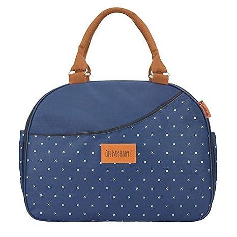Badabulle Weekend - Bolso de maternidad unisex, azul