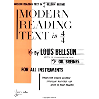 Modern Reading Text in 4/4 For All Instruments book cover