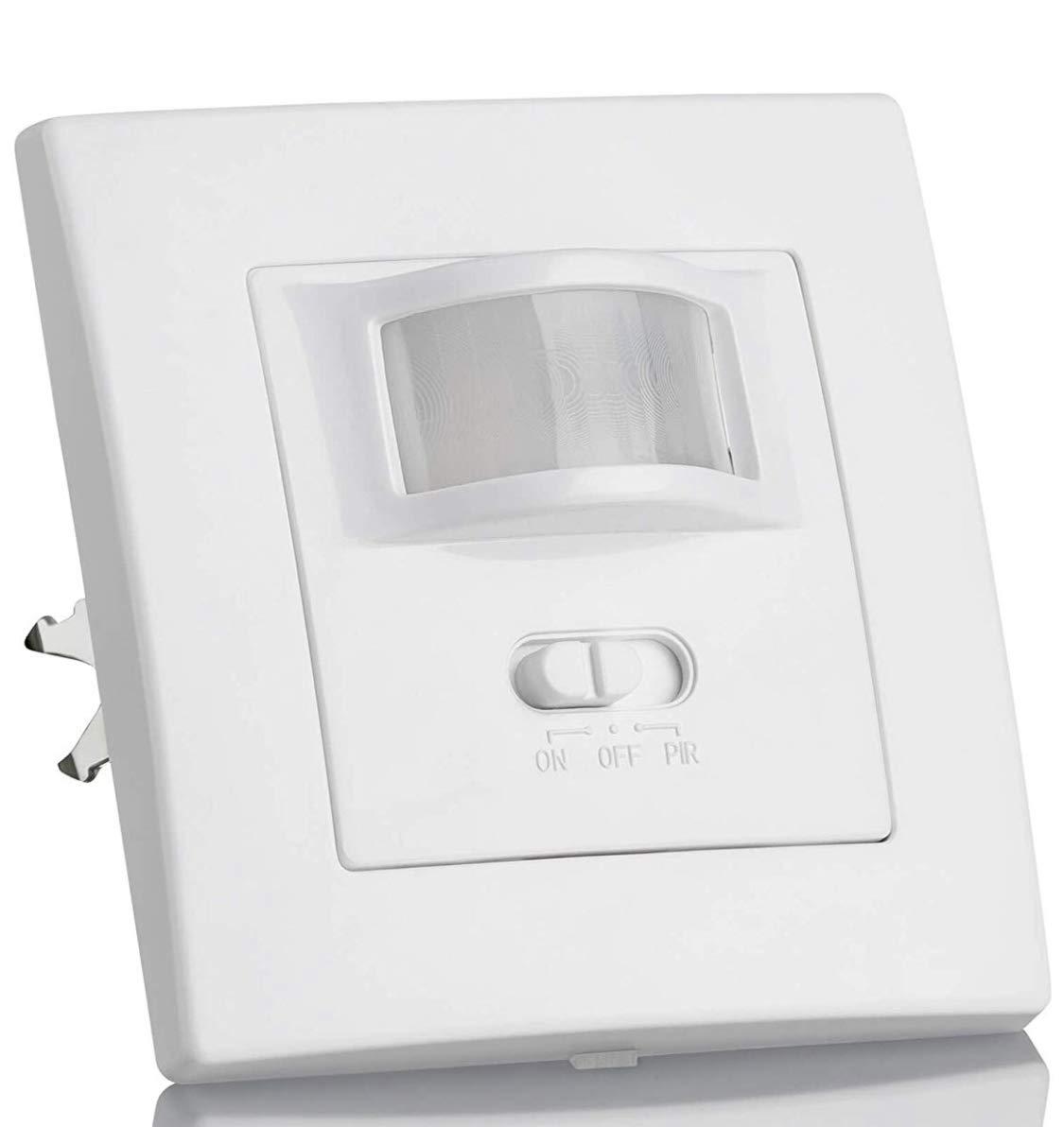 (LA) Oferta Detector Presencia, Sensor de Movimiento Pared empotrable Standard 160º. Compatible LED. Interruptor automático por Movimiento. LED ATOMANT