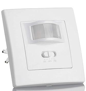 (LA) Oferta Detector Presencia, Sensor de Movimiento Pared empotrable Standard 160º. Compatible LED. Interruptor automático por Movimiento.