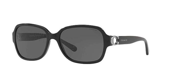 e22ee82413 Gafas de Sol Coach HC 8241 BLACK/GREY mujer: Amazon.es: Deportes y ...