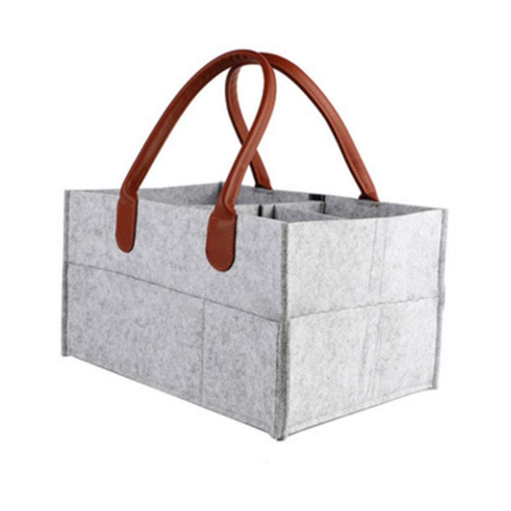 Portable Nursery Storage Bin with Detachable Partition 18.5cm,Orange 33 23 Baby Diaper Caddy Organizer
