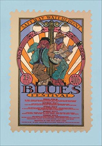 Waterfront Blues Festival 2006 Original Signed Silkscreen Concert Poster