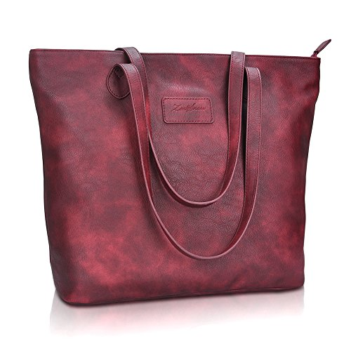 Tote Handbags for Women,Purses and Handbags,ZMSnow Large Purse Shoulder Bags (1.Winered)