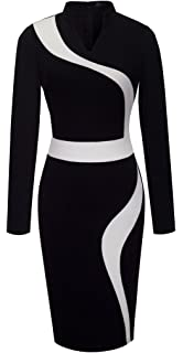 8f0fb02805 HOMEYEE Women s Vintage Short Sleeve Wear to Work Party Bodycon Dress B320