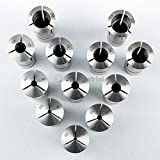 12 Pc R8 Collet Set Metric 3mm to 22 mm High