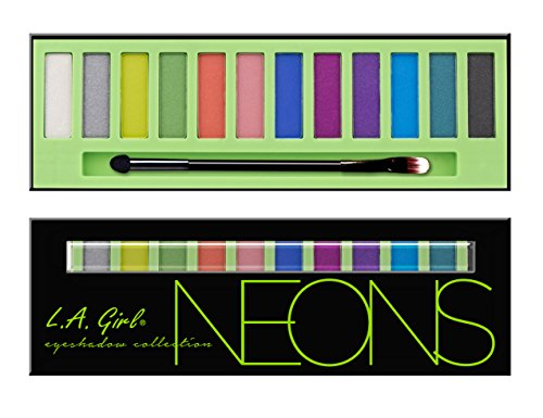 Neon Eyes - L.A. Girl Beauty Brick Eyeshadow, Neons, 0.42 Ounce