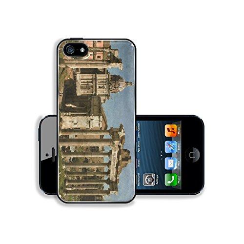 MSD Premium Apple iPhone 5 iphone 5S Aluminum Backplate Bumper Snap Case Image ID 27366421 Vintage image of the Roman Forum in Rome Italy (Case Rome 5 Iphone)