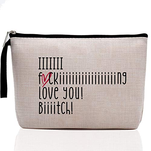 Gifts for Best Friends Women, Inspirational Makeup Bag Keep Going Motivational Mantra Quote, Best Friend Sister Gift for…