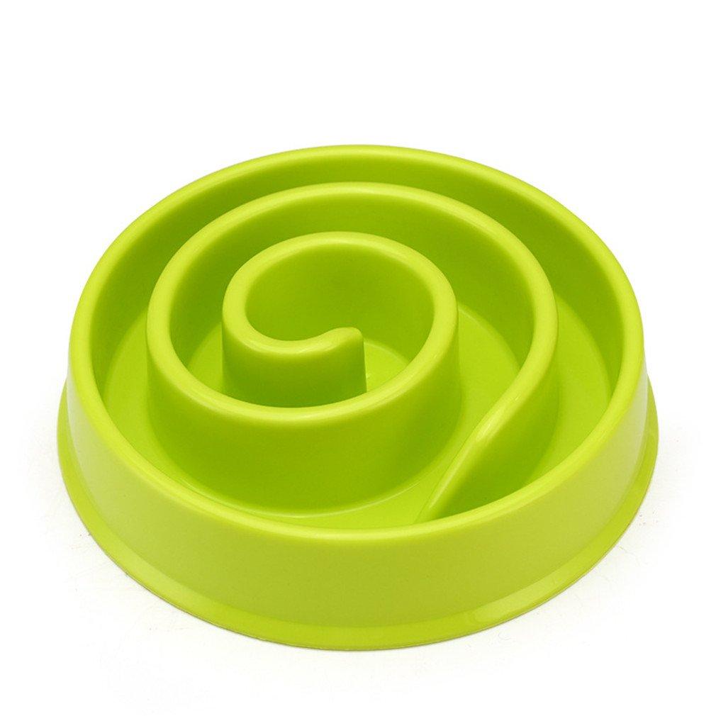 LVSEHUIYI Pet Dog Cat Interactive Slow Food Bowl 1Pc Slip Gulp Feeder Healthy Bloat Dish For Pet Feeding Tools green snails 20 x 20 x 4cm