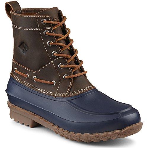 Sperry Top-Sider Men's Decoy Rain Boot, Navy/Tan, 9.5 M US