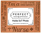 Cheap ThisWear Nurse Appreciation Gift I am a Nurse Poem Natural Wood Engraved 5×7 Landscape Picture Frame Wood