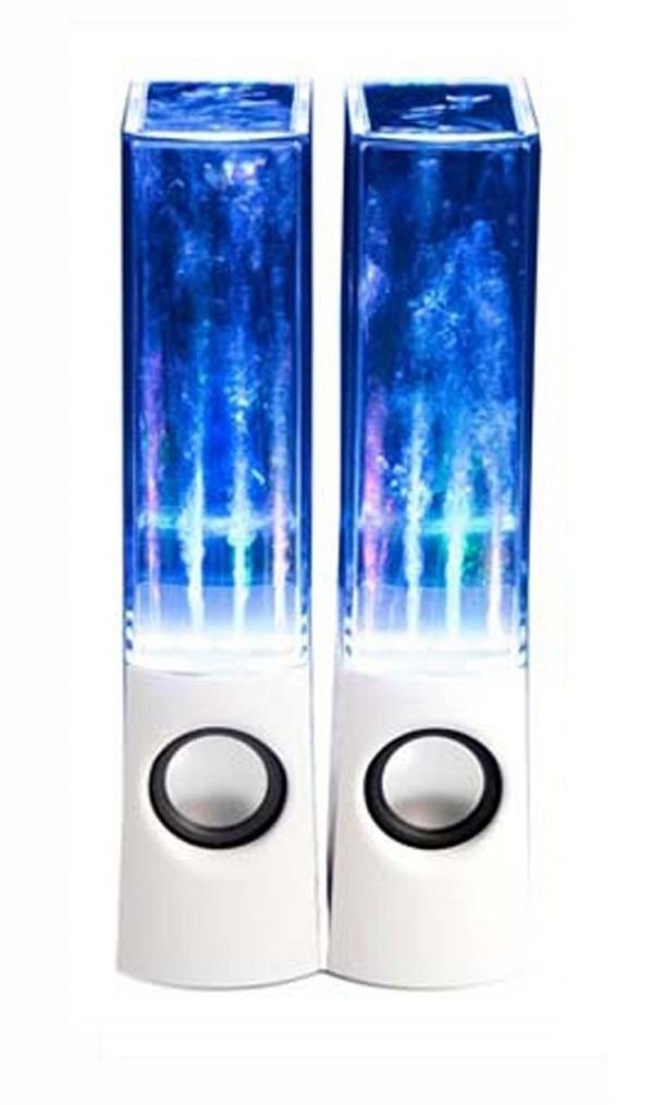 New Mini Water Speakers White Bass Speaker Led Dancing Water Fountain Music Home EliteZotec®