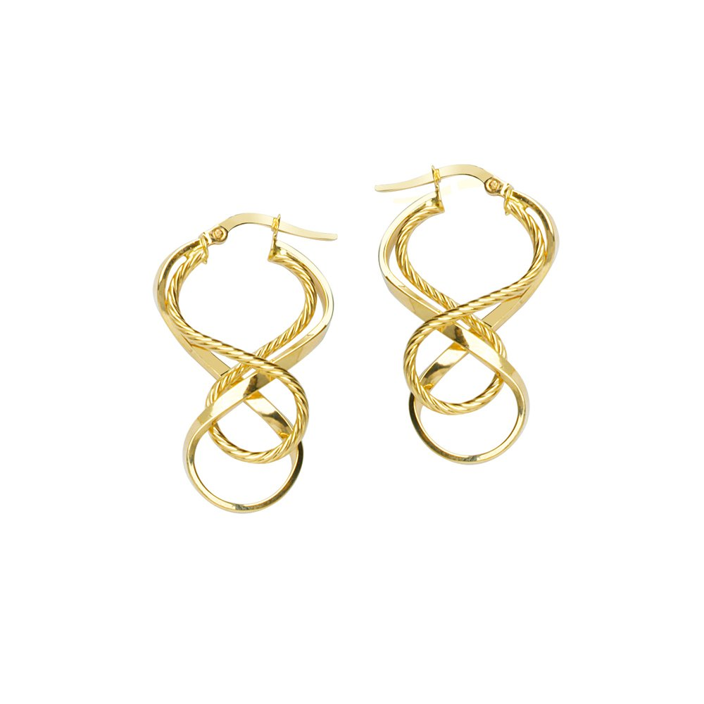 10Kt Gold Twist Hoop Earring Hoop Earrings