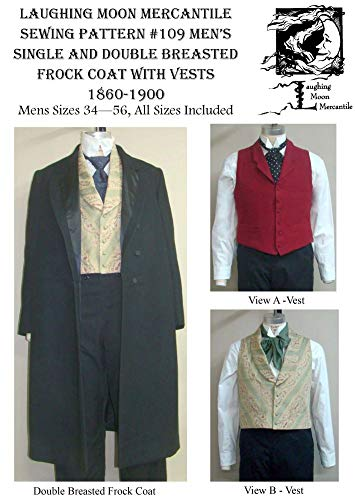 Patterns - Laughing Moon #109, Men's Frock Coat with Vests ()
